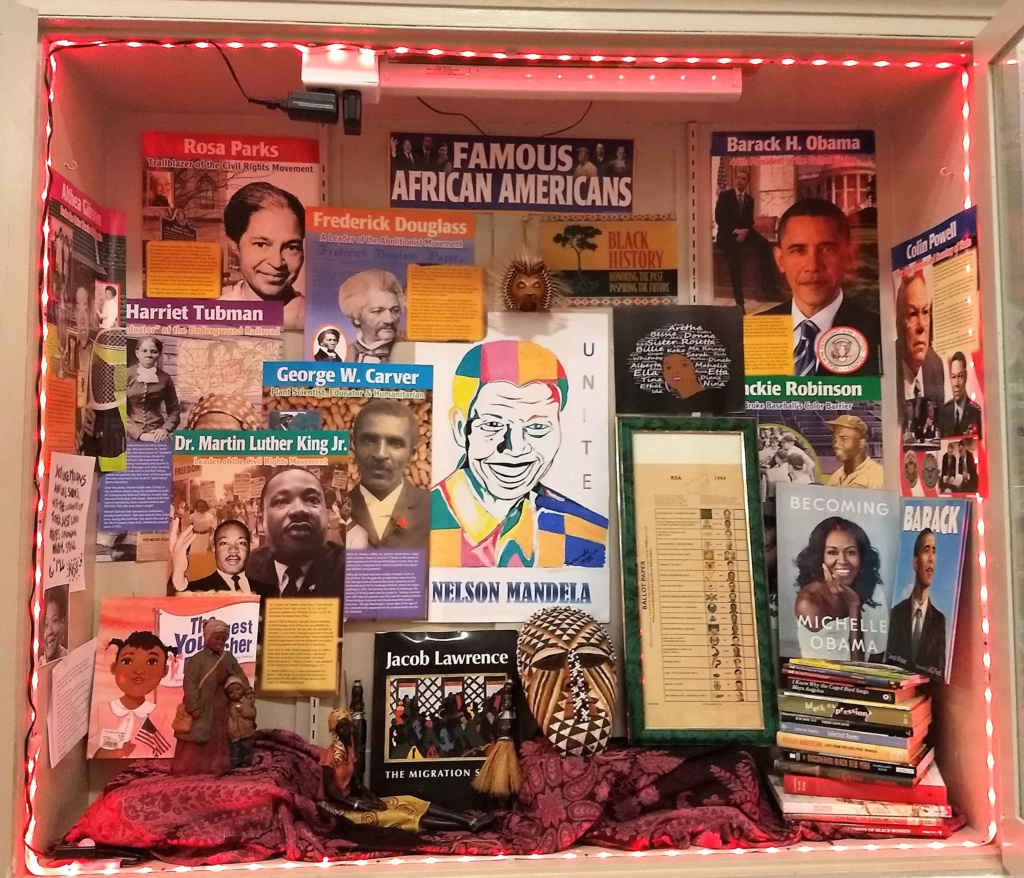 Our Diversity, Equity and Inclusion Committee recognized Black History Month with a beautiful display in the lobby of the Family Partnership Center.